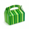 Green striped empty Favor Boxes (4)